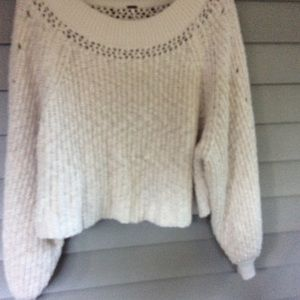 Free People baggy crop sweater
